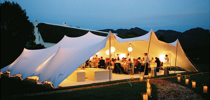 white Outdoor wedding tents